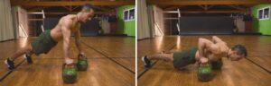 quarantena kettlebell workout pushup completo