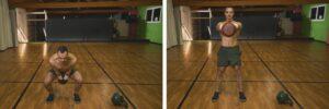 12 Minuti Tabata Kettlebell Workout Swing Squat Accosciata