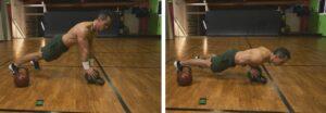 12 Minuti Tabata Kettlebell Workout pushup